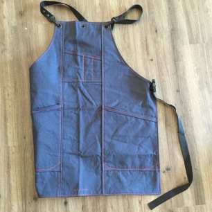 Blue Canvas Apron
